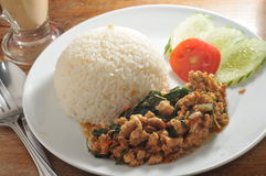 Thai minced pork rice Royalty Free Stock Images
