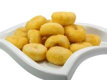 Thai mini doughnuts stock photos