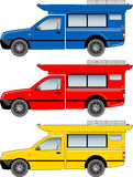 Thai Minibus vector. Blue  yellow and red theme Royalty Free Stock Image