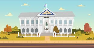 Thai Ministry of the Interior building. Vector illustration Stock Photo