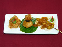 Thai mix appetizers Royalty Free Stock Image