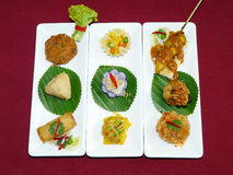 Thai mix appetizers Royalty Free Stock Photo