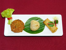 Thai mix appetizers Royalty Free Stock Images