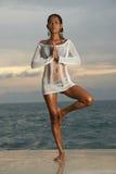 Thai Model Sunrise Yoga Stock Images