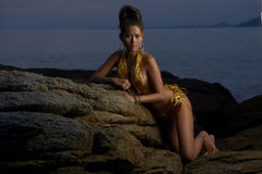 Thai Model at Sunset Royalty Free Stock Photography