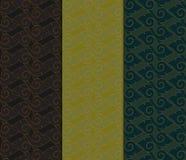 Thai modern geometric seamless pattern vector abstract backgroun. Thai modern geometric seamless luxury pattern vector abstract background, 3 patterns Stock Photos