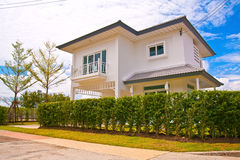 Thai modern style house Stock Images