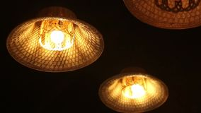 Thai style rustic lamp stock footage