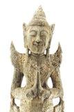 Thai molding wood god. Royalty Free Stock Photo