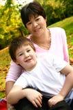 Thai mom with son Stock Photos