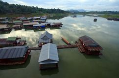 Thai Mon Floating village Royalty Free Stock Images