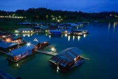 Thai Mon Floating Village Stock Photos