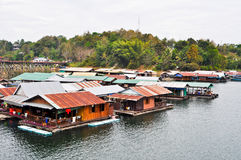 Thai Mon Floating village Stock Image