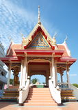 Thai monastery. Beautiful royalty free stock photography
