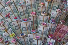 Thai money. Close up of thai money Stock Image