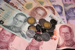 Thai money background Stock Photo