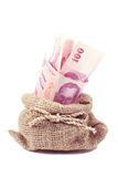Thai money in the bag Stock Images