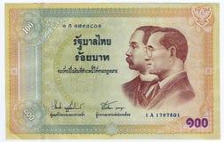 Thai money 100 Baht. Royalty Free Stock Photo