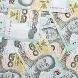 Thai money 20 baht  , thai bank note background Royalty Free Stock Photography