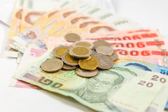 Thai money with bank statement Royalty Free Stock Images
