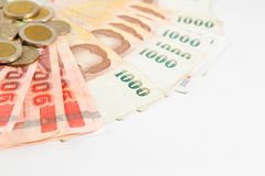 Thai money with bank statement Royalty Free Stock Image