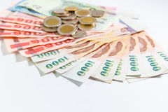 Thai money with bank statement Stock Images