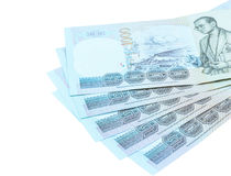 Thai money banknotes Stock Image