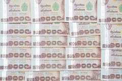 Thai money banknotes Thousand baht Stock Photo