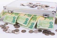 Thai money bath on ark Royalty Free Stock Images