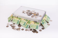 Thai money bath on ark Stock Photography