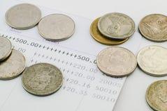 Thai money bath and Saving Account Passbook. Image Stock Images