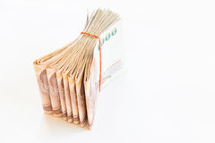 Thai money isolated. On white background Royalty Free Stock Images