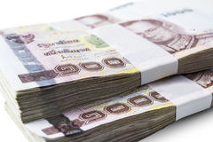 Thai money isolated Royalty Free Stock Photo