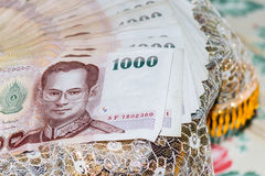 Thai money for marriage Royalty Free Stock Images