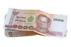 Thai money : a stack of 1000 banknotes Royalty Free Stock Image