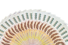 Thai money in thousand bank isolated image Royalty Free Stock Photo