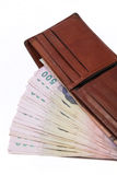Thai money in a wallet Stock Photography