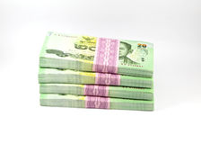 Thai money on white background , banknote Royalty Free Stock Photos