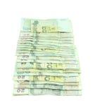 Thai money on white background Royalty Free Stock Photography
