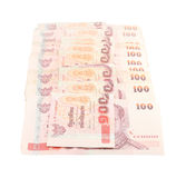 Thai money on white background Royalty Free Stock Photo