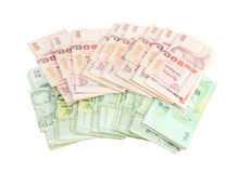 Thai money on white background Royalty Free Stock Images