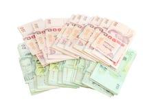 Thai money on white background Royalty Free Stock Images