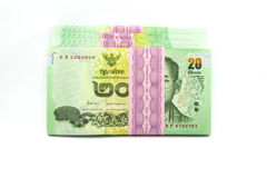 Thai money on white background Royalty Free Stock Photos