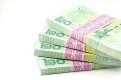 Thai money on white background Royalty Free Stock Photo