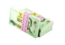 Thai money on white background. Stack of Stock Image
