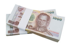 Thai Money on white Stock Photo
