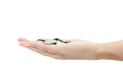 Thai money  in your hand. Royalty Free Stock Image