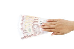 Thai money  in your hand. Stock Image