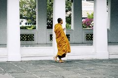 Thai monk Stock Photography