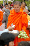 Thai monk Royalty Free Stock Photos
